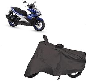Utkarsh Premium Quality Grey Matty Two Wheeler Scooty Scooter Body Cover For Yamaha Aerox 155 With Mirror Pockets