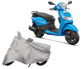 Utkarsh Premium Quality Silver Matty Two Wheeler Scooter Scooty Body Cover For Hero Pleasure Plus With Mirror Pockets