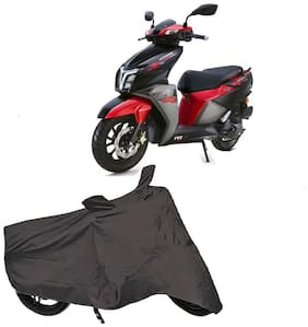 Utkarsh Premium Quality Grey Matty Two Wheeler Scooter Scooty Body Cover For Tvs Ntorq 125 Race Edition With Mirror Pockets