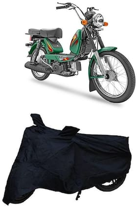 Utkarsh Premium Quality Black Matty Two Wheeler Bike Body Cover For TVS Heavy Duty Xl 100