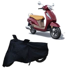 Utkarsh Premium Quality Black Matty Two Wheeler Scooter Scooty Body Cover For Suzuki Access 125 Bs6 With Mirror Pockets
