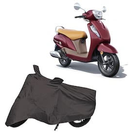 Utkarsh Premium Quality Grey Matty Two Wheeler Scooty Scooter Body Cover For Suzuki Access 125 Bs6 With Mirror Pockets