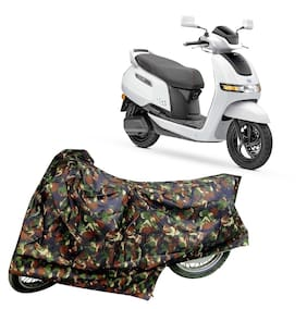 Utkarsh Premium Quality Junglee Matty Two Wheeler Electric Scooter Scooty Body Cover For Tvs Iqube With Mirror Pockets