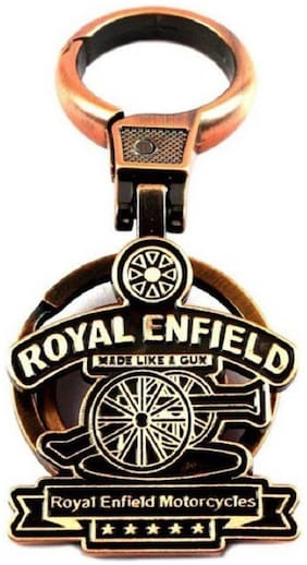 VEDY Royal Enfield 258 Locking Key Chain (Multicolor)