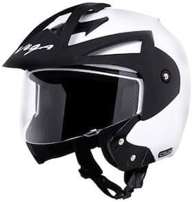 Vega Crux Off Face Helmet White (1 Piece)