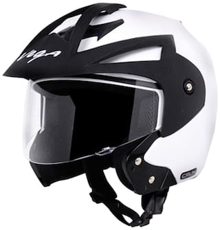 Vega Crux Off Face Helmet White (1 Piece)