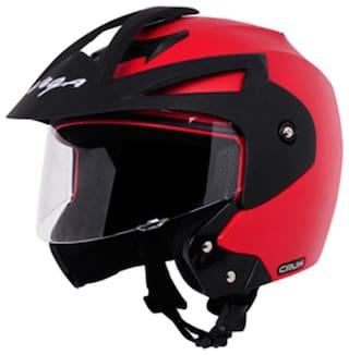 Vega Crux Off Face Helmet Red (1 Piece)