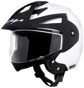 Vega Crux Open Face Helmet White (1 Piece)