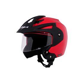 Vega Crux Open Face Helmet Red