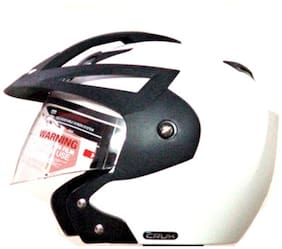 Vega Crux Off Face Helmet White