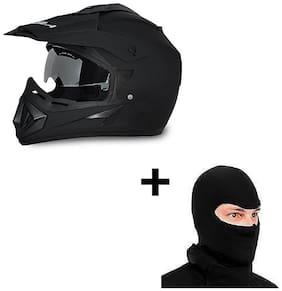 Vega Off Road Dv Full Face Helmet With Face Mask(Black)