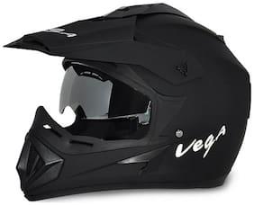 Vega Off Road DV Dull Full Face Helmet Black (1 Piece)