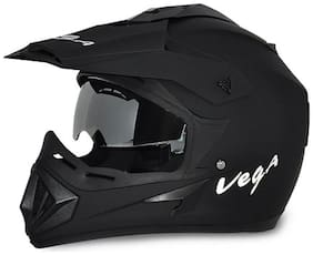 Vega Off Road DV Dull Full Face Helmet Black (1 Piece)