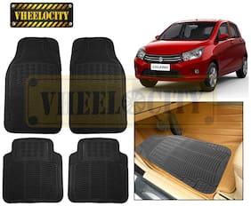 Vheelocity Car Foot Mat Black Premium Rubber For Maruti Suzuki Celerio
