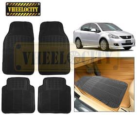 Vheelocity Car Foot Mat Black Premium Rubber For Maruti SX4