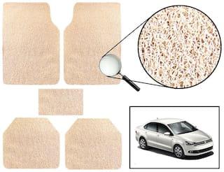 Vheelocity Car Foot Mat Premium Beige Noodle - Volkswagen Vento