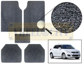 Vheelocity Car Foot Mat Premium Black Noodle - Swift Dzire