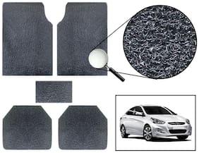 Vheelocity Car Foot Mat Premium Black Noodle - Hyundai Verna
