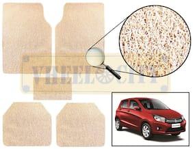 Vheelocity Car Foot Mat Premium Beige Noodle - Celerio