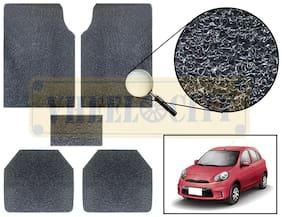 Vheelocity Car Foot Mat Premium Black Noodle - Micra