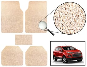 Vheelocity Car Foot Mat Premium Beige Noodle - Ford Ecosport