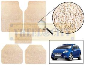 Vheelocity Car Foot Mat Premium Beige Noodle - Punto