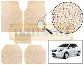 Vheelocity Car Foot Mat Premium Beige Noodle - Amaze