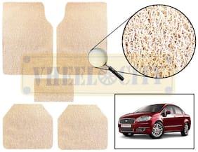 Vheelocity Car Foot Mat Premium Beige Noodle - Linea