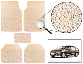 Vheelocity Car Foot Mat Premium Beige Noodle - Maruti Suzuki Ciaz