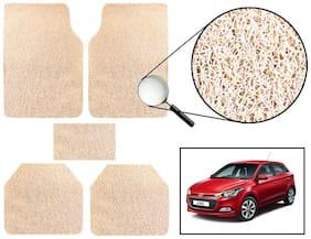Vheelocity Car Foot Mat Premium Beige Noodle - Hyundai Elite I20