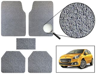 Vheelocity Car Foot Mat Premium Grey Noodle - Fiat Punto Evo