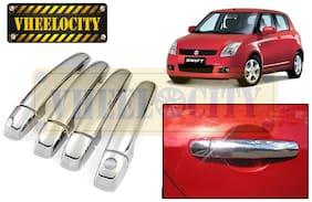 Vheelocityin Maruti Suzuki Swift Chrome Plated Car Door handle Covers Set of 4