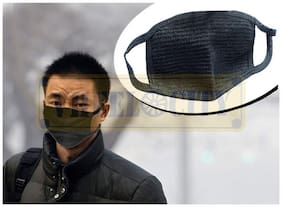 Vheelocityin Safety Nose Dust Face Mask in Black Color