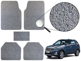 Vheelocityin Premium Grey Noodle Car Foot Mat / Floor Mat For Hyundai Creta