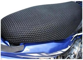 Vheelocityin Motorcycle/ Scooty Net Fabric Seat Cover For TVS Flame DS125