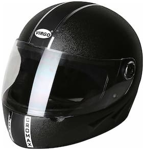 virgo no. 1 Cromax Full Face Helmet;Large Size (ChromexBK;Black)