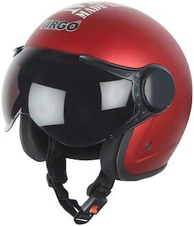 Virgo No 1 Helmet  BLT Color Red Matt finish Tinted visor