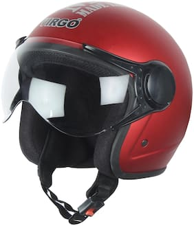 Virgo No 1 Helmet  BLT Color Red Matt finish Clear visor