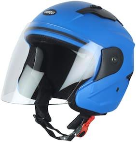Virgo No 1 Helmet Xr Color Blue Matt Finish Visor Color Clear