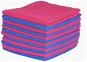 VRT Microfiber Cloth used for Cleaning and Dusting - Kitchen, Washroom, Cars, and Bikes - Pack of 12