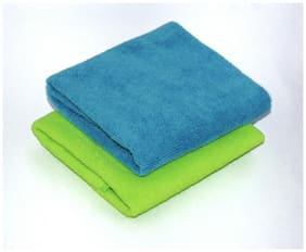 VRT Microfiber Cloth used for Cleaning and Dusting - Kitchen, Washroom, Cars, and Bikes - Pack of 2