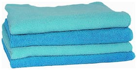VRT Microfiber Cloth used for Cleaning, Dusting and Polishing - Kitchen, Washroom, Cars, and Bikes - Pack of 4