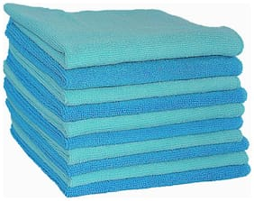 VRT Microfiber Cloth used for Cleaning, Dusting and Polishing - Kitchen, Washroom, Cars, and Bikes - Pack of 10