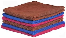 VRT Microfiber Cloth used for Cleaning and Dusting - Kitchen, Washroom, Cars, and Bikes - Pack of 6