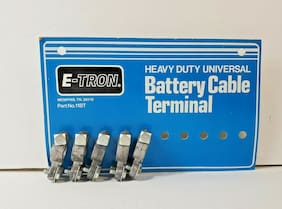 Vtg 1980's NOS E-TRON Heavy Duty Universal Battery Cable Terminal -- 5 on Card