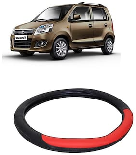 WagonR Black&Red Steering Cover