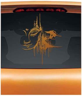 WallDesign Urban Buddha Car Rear Glass Sticker- Copper