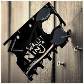 Wallet Ninja 18 In 1 Multi Purpose Credit Card Size Pocket Tool, Screw Drivers