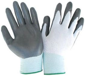 WaoDeals Hand Safety Anti-Slip Multipurpose Gloves (Punture Resistance, Bike Riding Gloves) (1 Pair)