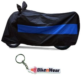 Water Proof black-blue Body Cover For Royal Enfield Classic Desert Strom With Keychain